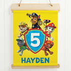 Personalized Paw Patrol Pawsome Hanging Birthday Canvas Print