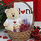 I Love You Teddy Bear Gift Basket