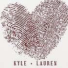 Personalized Couple's Fingerprints Wall Canvas