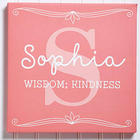 Personalized Kid's Name Meaning Canvas Art Print