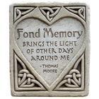 Fond Memory Hand-Cast Stone Plaque