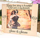 Favorite Love Story Large Wood Engraved Picture Frame
