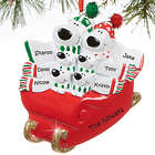 Family's Personalized Polar Bear Sled Christmas Ornament