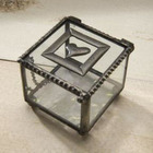 Heart Miniature Glass Keepsake Box