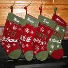 Chenille Loop Personalized Christmas Stocking