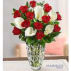 Valentine's Day Luxurious Red Rose and Calla Lily Bouquet