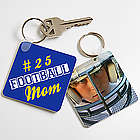 Mom's Personalized Sports Key Ring