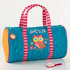 Lovable Owl Personalized Kid's Duffel Bag