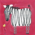 Zebra & Bird Wall Art Canvas Reproduction