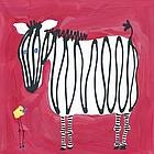 Zebra & Bird Wall Art Canvas Reproduction