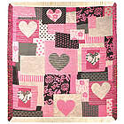 Heart of Hearts Damask Throw