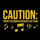 Caution Prone to Sudden Outbursts Sweatshirt