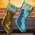Turquoise and Green Elegance Personalized Christmas Stocking