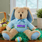 Personalized Ears To You Easter Bunny Stuffed Animal in Blue