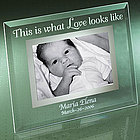 Personalized This is What Love Looks Like Baby Glass Photo Frame