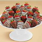 Two Dozen Gourmet Dipped Swizzled Strawberries