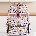 Personalized Playful Print Girl's Backpack