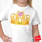 Personalized Girl's Princess Tee Shirt
