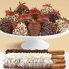 4 Caramel Pretzels and Full Dozen Father's Day Strawberries
