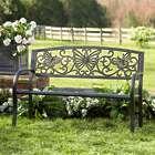 Butterfly Scroll Metal Garden Bench
