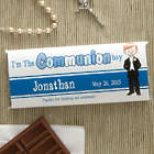 Personalized Boy First Communion Candy Bar Wrapper Favors