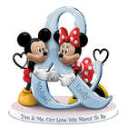 Personalized You & Me Mickey and Minnie Mouse Figurine
