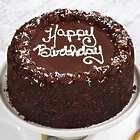 Two Layer Chocolate Happy Birthday Cake