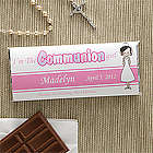 Personalized Girl First Communion Candy Bar Wrapper Favors