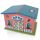 Pink and Blue Pony Farmhouse with Spinning Pony Music Box