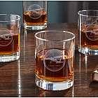 Aviator Personalized Whiskey Glasses
