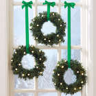 Set of 3 Lighted Mini Wreaths