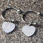Personalized Heart Horseshoe Key Ring
