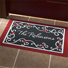 Personalized Heart Scroll Doormat