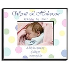 Personalized Polka Dot Picture Frame
