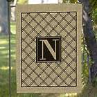 Monogram Burlap Single Sided Garden Flag