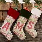 Kid's Personalized Name Print Christmas Stocking