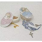 Porcelain Baby Box with Necklace or Rosary