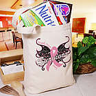 Breast Cancer Survivor Butterfly Tote Bag