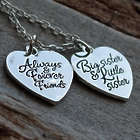 Always and Forever Friends Big and Little Sister Necklace
