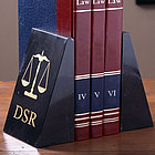 Law Icons Marble Bookends