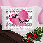 I Love You Personalized Pillowcase