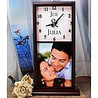 Personalized Photo and Text Mantle Clock