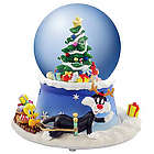 Tweety and Sylvester Christmas Tree Animated Snow Globe