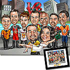 Wedding Party Fully Custom Caricature Print
