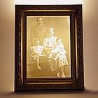Personalized Family Photo Illuminated Lithophane
