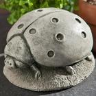 Hand-Cast Stone Ladybug Garden Statue