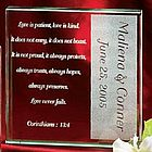 Marriage Love Is Patient Glass Keepsake