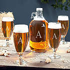 Montford Personalized Pilsner Glasses and Growler