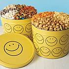 Smiley Face Popcorn and Snacks 7 Way Tin