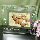 Engraved Religious New Baby Glass Picture Frame